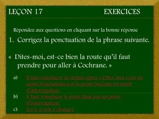 Le�on 17Exercices