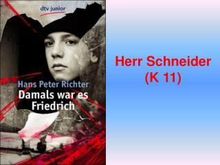 Herr Schneider (K 11)