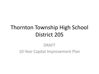 Thornton Township High School District 205