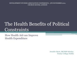 The Health Benefits of Political Constraints
