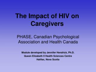 The Impact of HIV on Caregivers