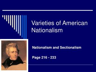 Varieties of American Nationalism