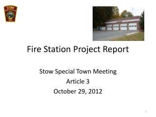 Fire Station Project Report