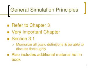 General Simulation Principles