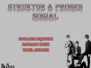STRUKTUR & PROSES SOSIAL