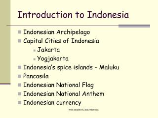 Introduction to Indonesia