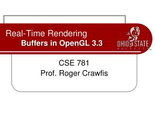 Real-Time Rendering Buffers in OpenGL 3.3