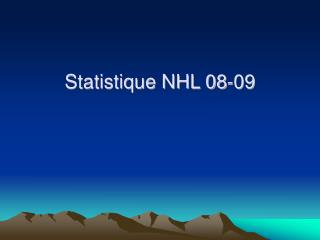 Statistique NHL 08-09