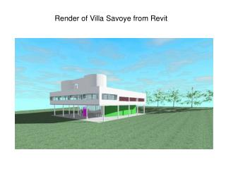 Render of Villa Savoye from Revit