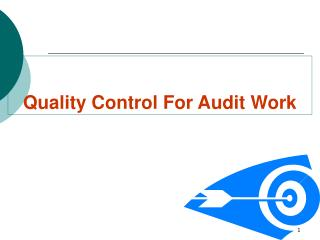 Quality Control For Audit Work