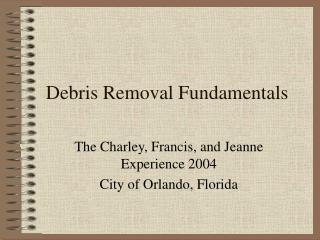 Debris Removal Fundamentals