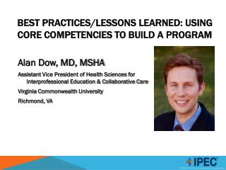 BEST Practices/lessons learned: using core competencies to build a program
