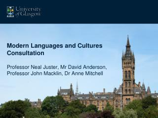 Modern Languages and Cultures Consultation