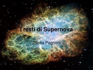 I resti di Supernova