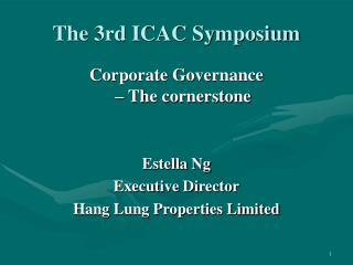 The 3rd ICAC Symposium