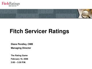 Fitch Servicer Ratings