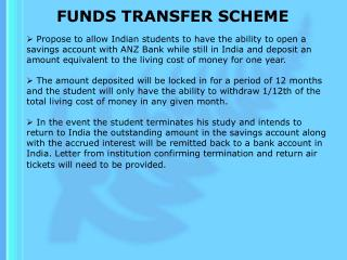 FUNDS TRANSFER SCHEME
