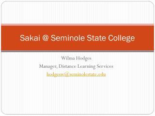 Sakai @ Seminole State College
