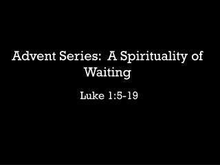Luke 1:5-19
