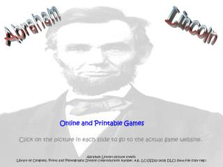 Online and Printable Games