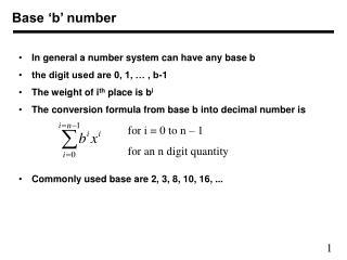Base �b� number