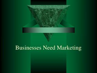 Businesses Need Marketing