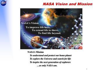 NASA Vision and Mission