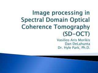 Image processing in Spectral Domain Optical Coherence Tomography (SD-OCT)