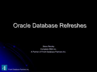 Oracle Database Refreshes