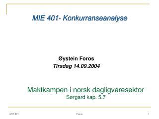 Øystein Foros Tirsdag 14.09.2004