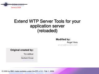 Extend WTP Server Tools for your application server (reloaded)