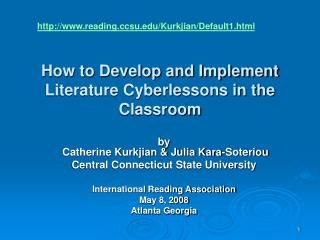 How to Develop and Implement Literature Cyberlessons in the Classroom