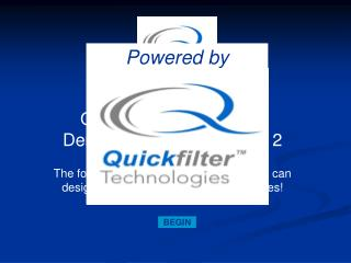 Quickfilter Pro Software Demonstration for QF4A512