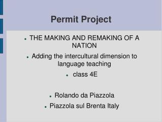 Permit Project