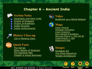 Chapter 6 – Ancient India