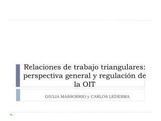 Relaciones de trabajo triangulares: perspectiva general y regulación de la OIT