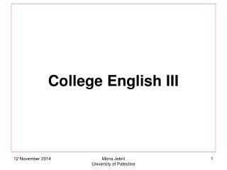 College English III