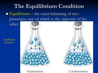The  Equilibrium Condition