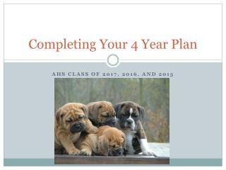 Completing Your 4 Year Plan