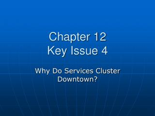 Chapter 12 Key Issue 4