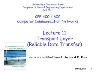 Lecture  11 Transport Layer  (Reliable Data Transfer)