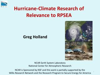 Hurricane-Climate Research of Relevance to RPSEA