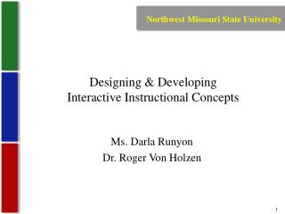 Designing & Developing  Interactive Instructional Concepts