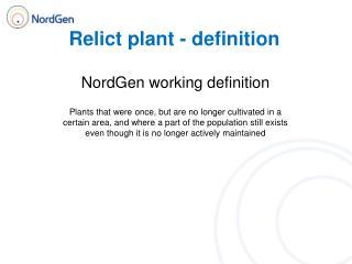 Relict plant - definition