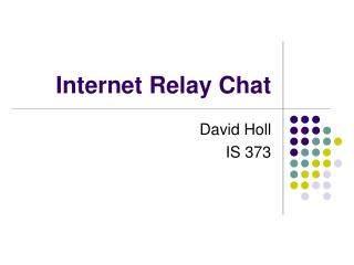 Internet Relay Chat