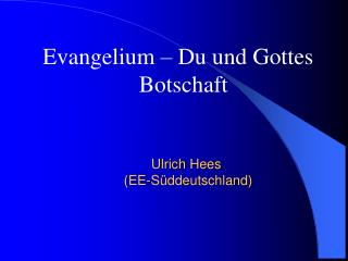 Ulrich Hees  EE-S ddeutschland