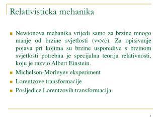 Relativisticka mehanika