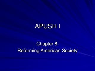 APUSH I