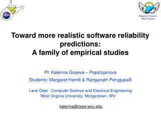 Toward more realistic software reliability predictions:  A family of empirical studies