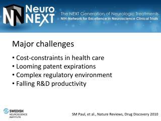 SM Paul, et al., Nature Reviews, Drug Discovery 2010